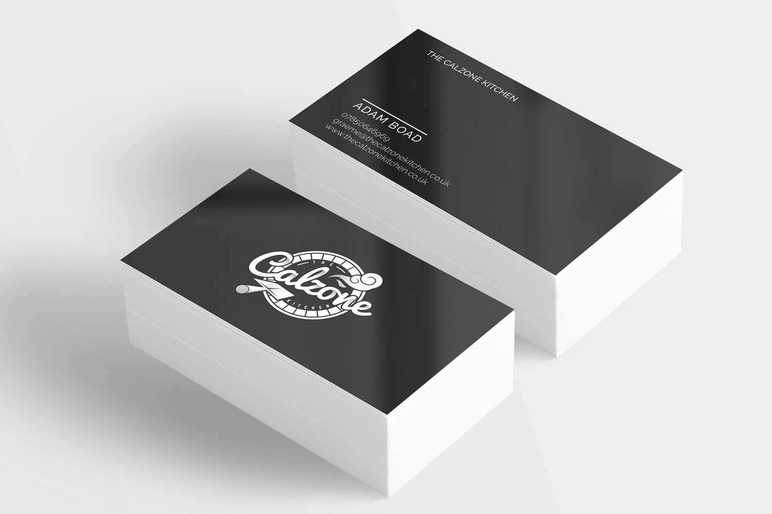 The Calzone Kitchen Business Card Design
